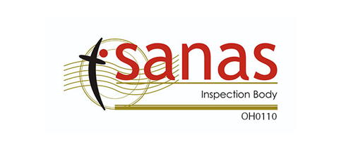 A South African National Accreditation System (SANAS) Accredited Inspection Body, No. OH 0110.